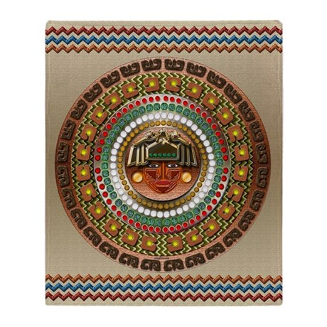 Aztec indian decor throw blanket by cheylines - Living room throw blankets ...