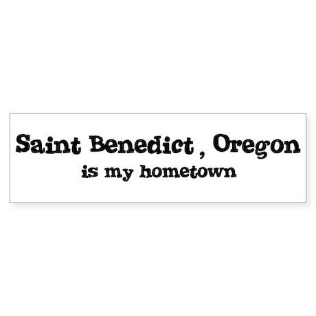 Saint Benedict - Hometown Bumper Sticker