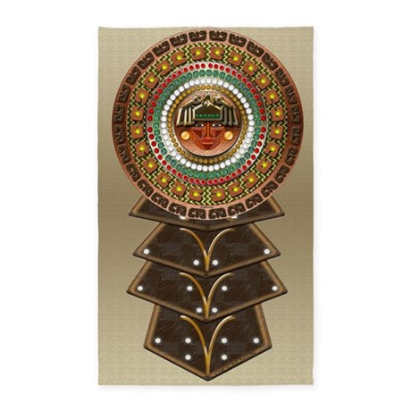 Aztec indian decor area rug by cheylines for Aztec bedroom ideas
