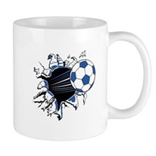 Soccerball Ripping Through Mug