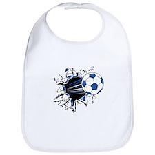 Soccerball Ripping Through Bib