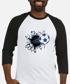 Soccerball Ripping Through Baseball Jersey