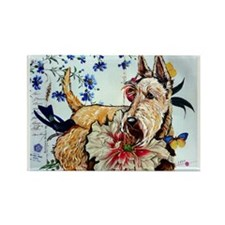 Garden Wheaten Scottie Rectangle Magnet