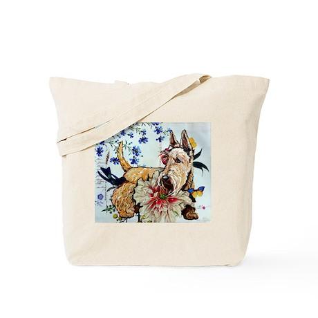 Garden Wheaten Scottie Tote Bag