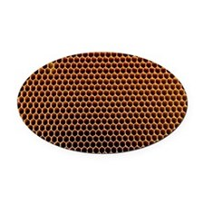 Honeycomb core - Oval Car Magnet