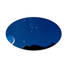 Night sky - Oval Car Magnet