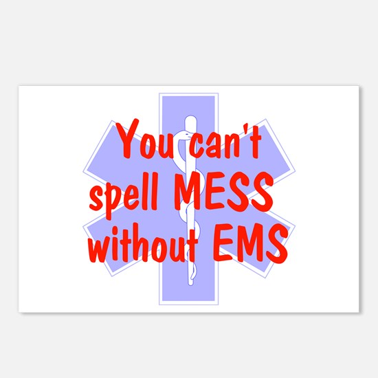 You can't spell MESS w/o EMS Postcards (Package of