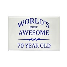 World's Most Awesome 75 Year Old Rectangle Magnet