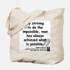 Bakunin Possible Quote Tote Bag