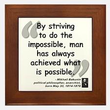 Bakunin Possible Quote Framed Tile