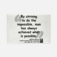 Bakunin Possible Quote Rectangle Magnet