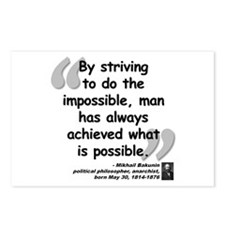 Bakunin Possible Quote Postcards (Package of 8)