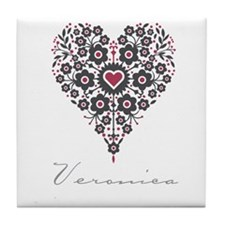 Love Veronica Tile Coaster