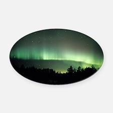 Aurora borealis - Oval Car Magnet