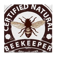 Cute Beekeeping Tile Coaster