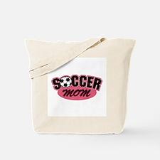 Pink Soccer Mom Design Tote Bag