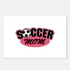 Pink Soccer Mom Design Postcards (Package of 8)