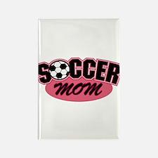 Pink Soccer Mom Design Rectangle Magnet