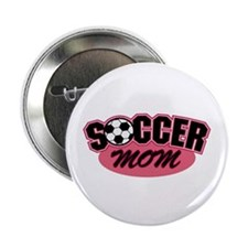 Pink Soccer Mom Design Button