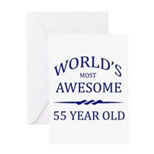 World's Most Awesome 55 Year Old Greeting Card