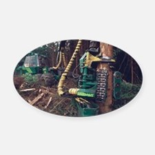 Commercial forestry - Oval Car Magnet