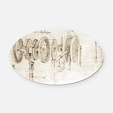 Da Vinci's notebook - Oval Car Magnet
