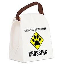 Chesapeake Bay Retriever Crossing Canvas Lunch Bag