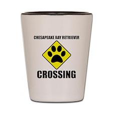 Chesapeake Bay Retriever Crossing Shot Glass