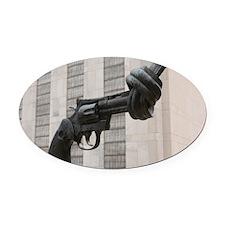 New York - Oval Car Magnet