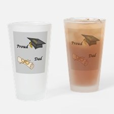 Proud Dad of a Graduate Drinking Glass