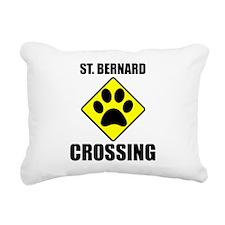 St. Bernard Crossing Rectangular Canvas Pillow