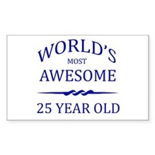 World's Most Awesome 25 Year Old Stickers