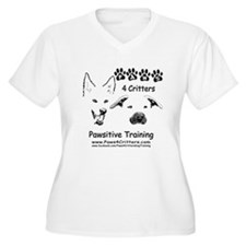 Paws4Critters TShirt Backside Plus Size T-Shirt