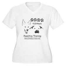 Paws4Critters TShirt Backside Plus Size T-Shirt