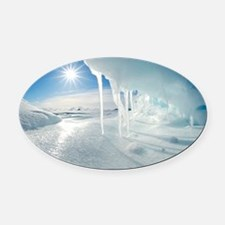 Melting Arctic ice, Canada - Oval Car Magnet
