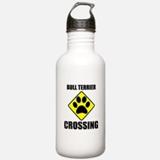 Bull Terrier Crossing Water Bottle