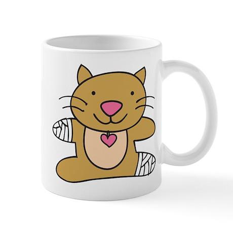 Hurt Kitty Mug