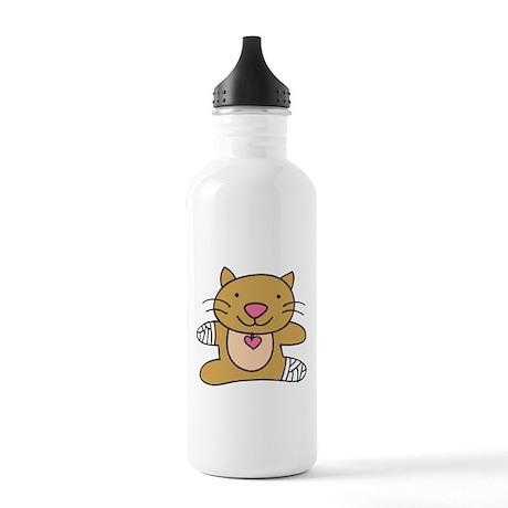 Hurt Kitty Water Bottle