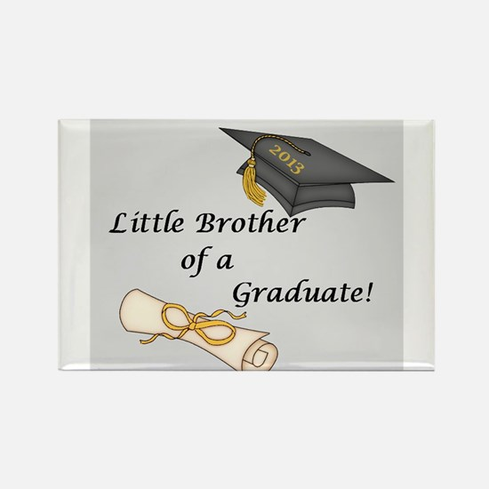 Little Brother of a Graduate Rectangle Magnet