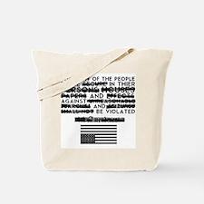 4th Amendment Tote Bag