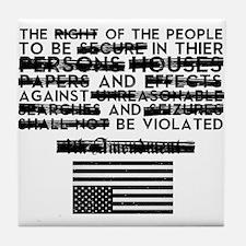 4th Amendment Tile Coaster