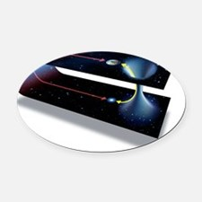 Wormhole, conceptual artwork - Oval Car Magnet