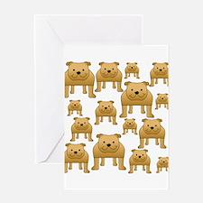 Dogs Pattern. Bulldogs. Greeting Card