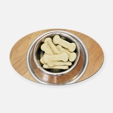 Dog biscuits - Oval Car Magnet