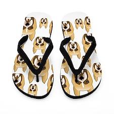 Boxer Face Pattern. Flip Flops