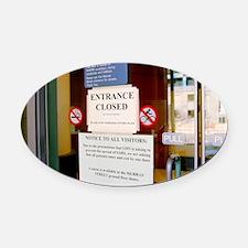 SARS control measures - Oval Car Magnet