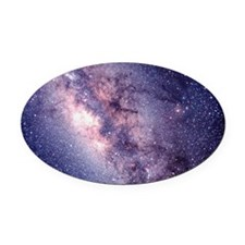Central Milky Way - Oval Car Magnet