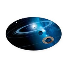 unction - Oval Car Magnet