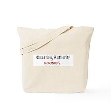 Question Alexzander Authority Tote Bag