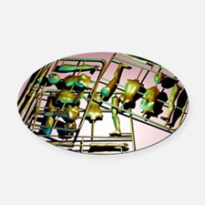 Plastic female body kits - Oval Car Magnet